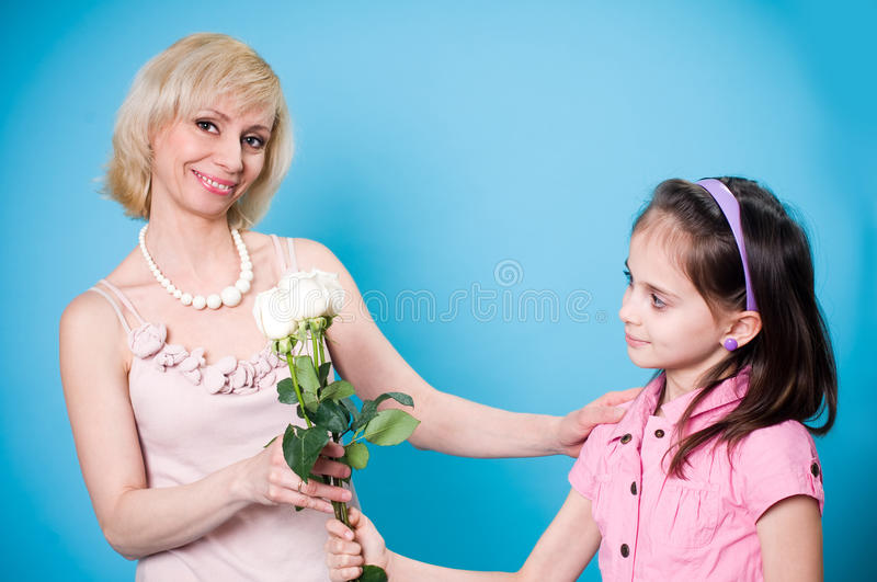 Download Daughter and mother stock photo. Image of daughter, background - 18949072