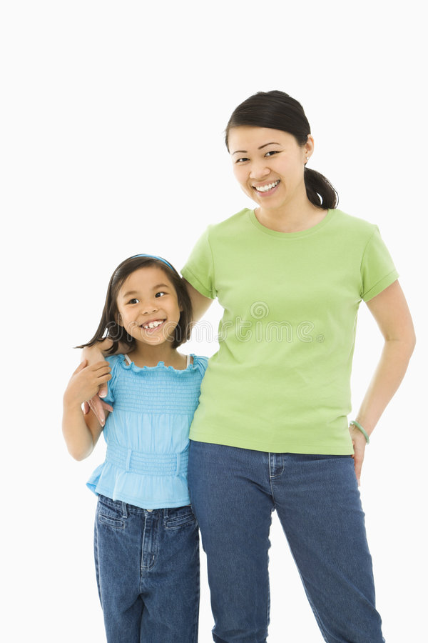 Daughter with mother. royalty free stock images