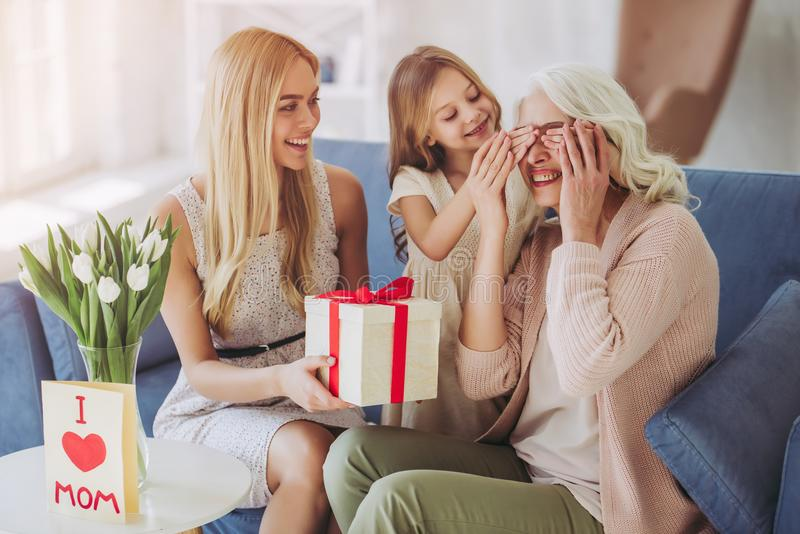 Download Daughter, Mother And Grandmother At Home Stock Photo - Image of generation, daughter: 111177630