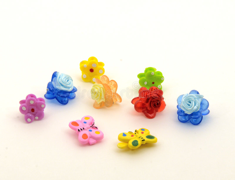 Daughter's hairpins royalty free stock image
