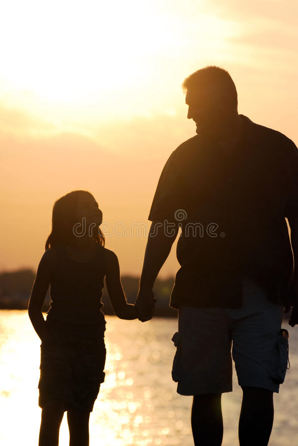 A Daughter's Love for Dad stock photography
