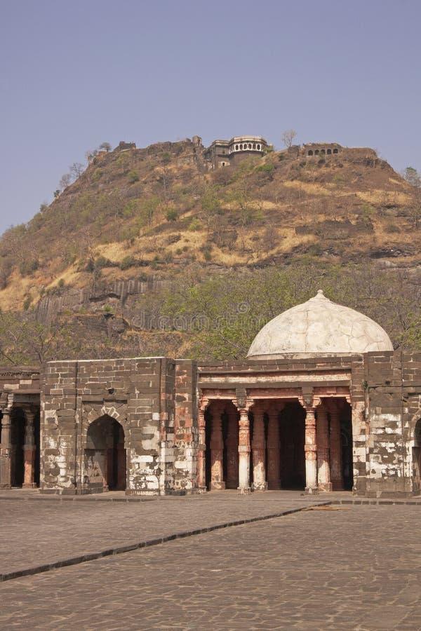 daulatabad堡垒清真寺 免版税库存照片
