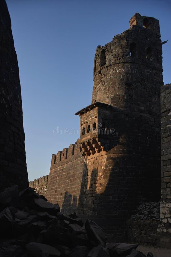 Daulatabad, également connu sous le nom de Devagiri un fort du 14ème siècle près du maharashtra INDE d'Aurangabad photos libres de droits
