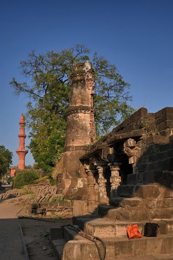 Daulatabad, également connu sous le nom de Devagiri un fort du 14ème siècle près du maharashtra INDE d'Aurangabad photo libre de droits
