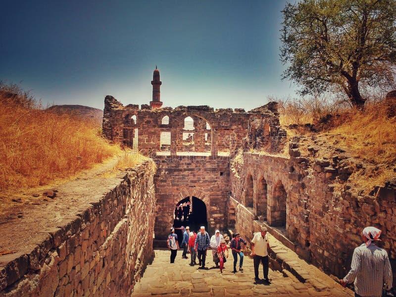 Daulatabad fort fotografia stock