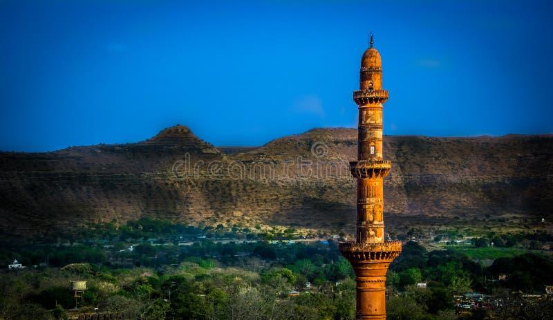 Daulatabad fort chand minar royalty free stock image