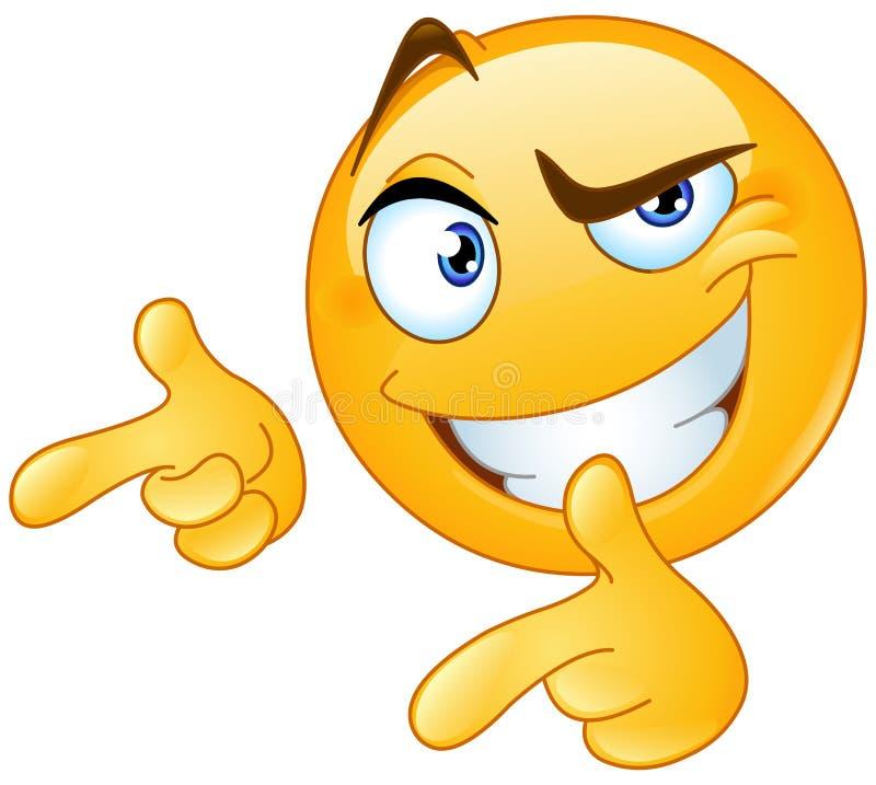 Daumen herauf das Zeigen von Finger Emoticon stock abbildung