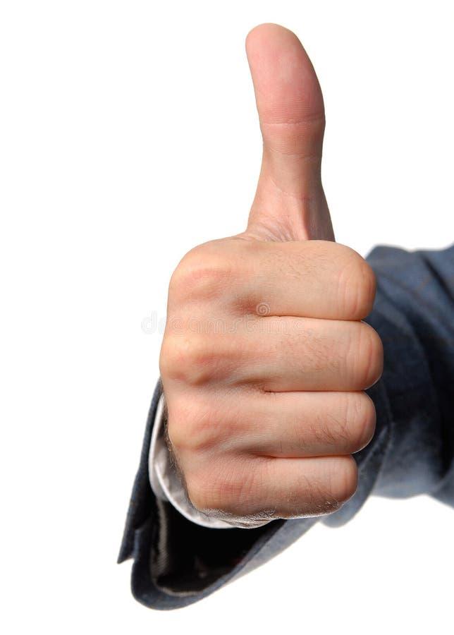 Daumen up Handzeichen lizenzfreies stockbild