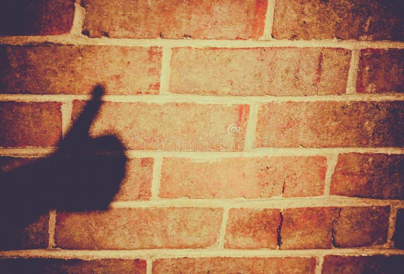 Daumen up Schatten stockfoto