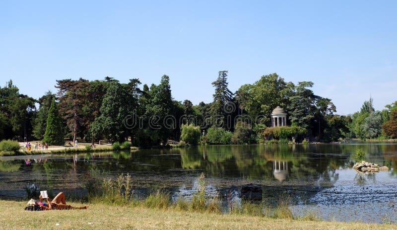 Daumesnil jezioro w Paryż fotografia stock