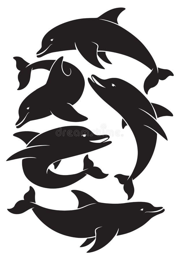 dauphin illustration libre de droits