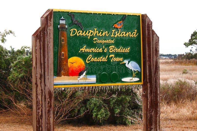 Dauphin Island Alabama isstorm arkivbild