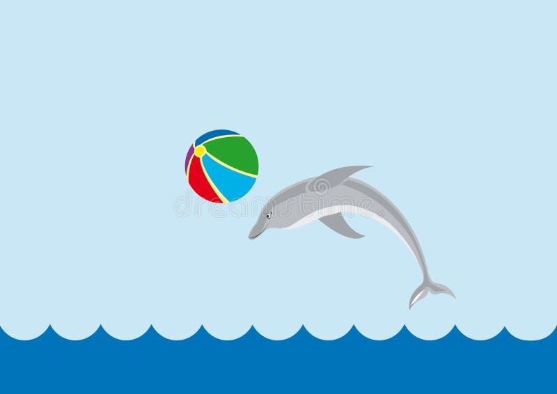 dauphin jouant la mer illustration de vecteur