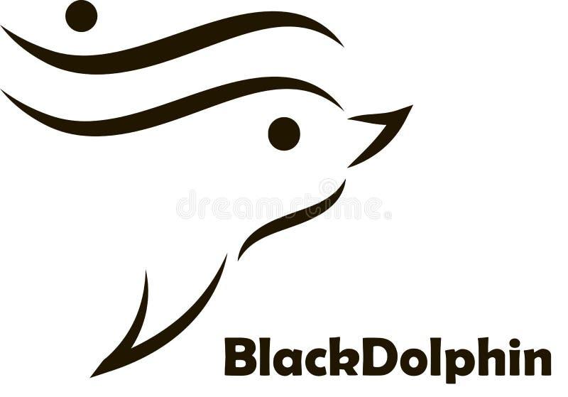 Dauphin noir illustration stock
