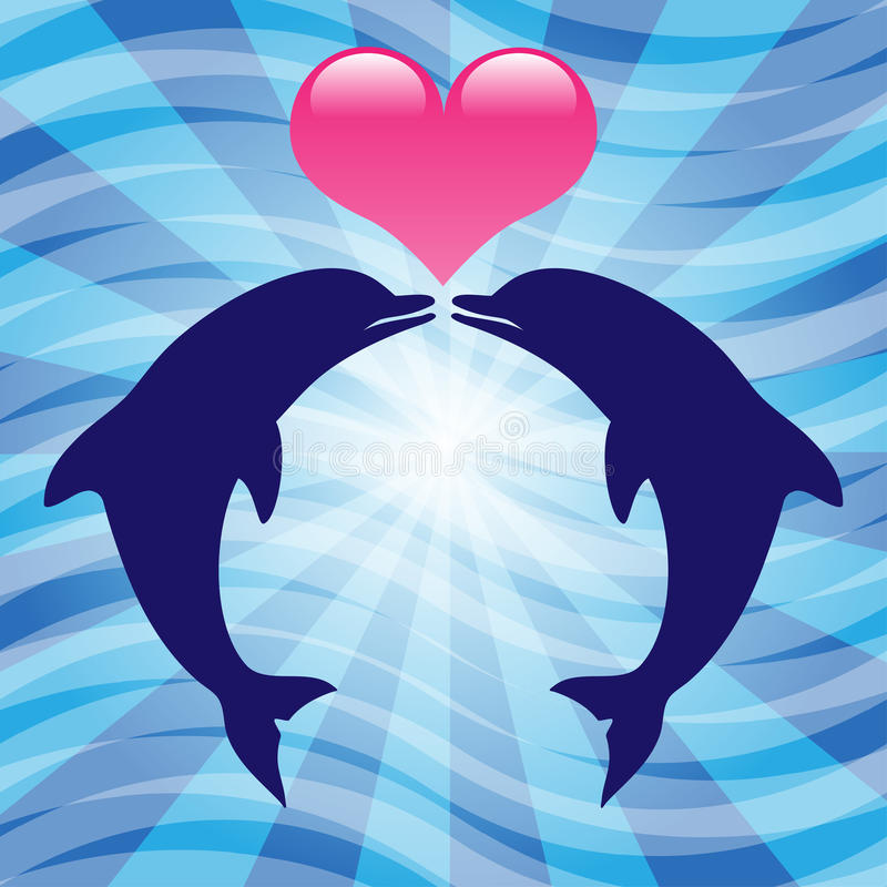 Dauphins d'amour illustration stock
