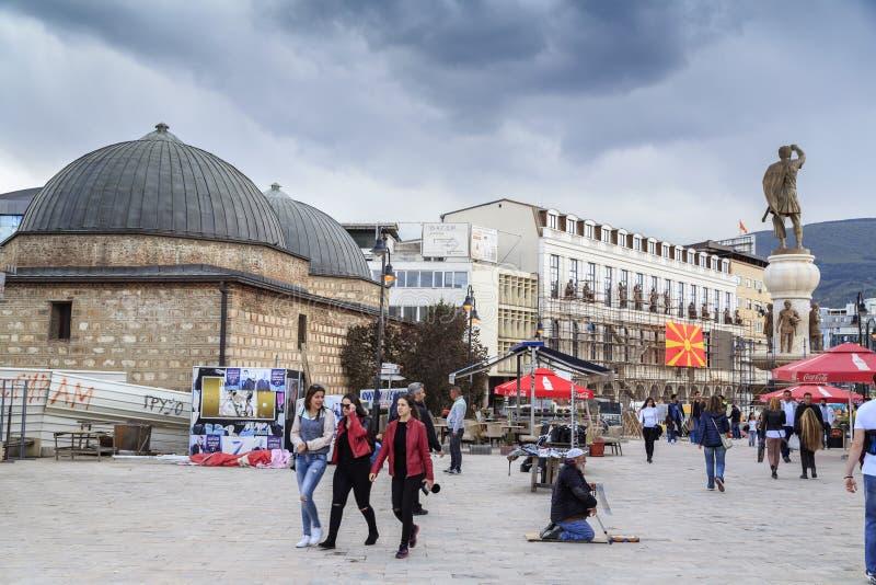 Daut Pasha Hammam, Skopje, Macedonia immagini stock