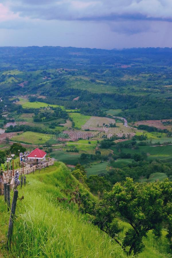 Davao-Bukidnon View. Buda, landscape, red, redhouse, nature royalty free stock photography