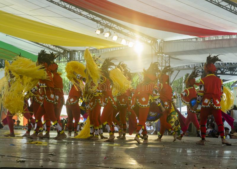 Performance at Kadayawan Square in Davao during Kadayawan Festival 2018. Davao, Philippines - August 18, 2018: Performance at Kadayawan Square in Davao during stock photography