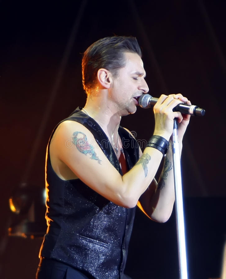 Dave Gahan From Depeche Mode stock images