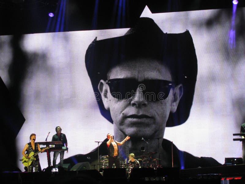 Dave Gahan e Martin Lee Gore, modo di Depeche fotografia stock