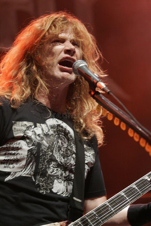 Dave Mustaine avec Megadeth photos stock