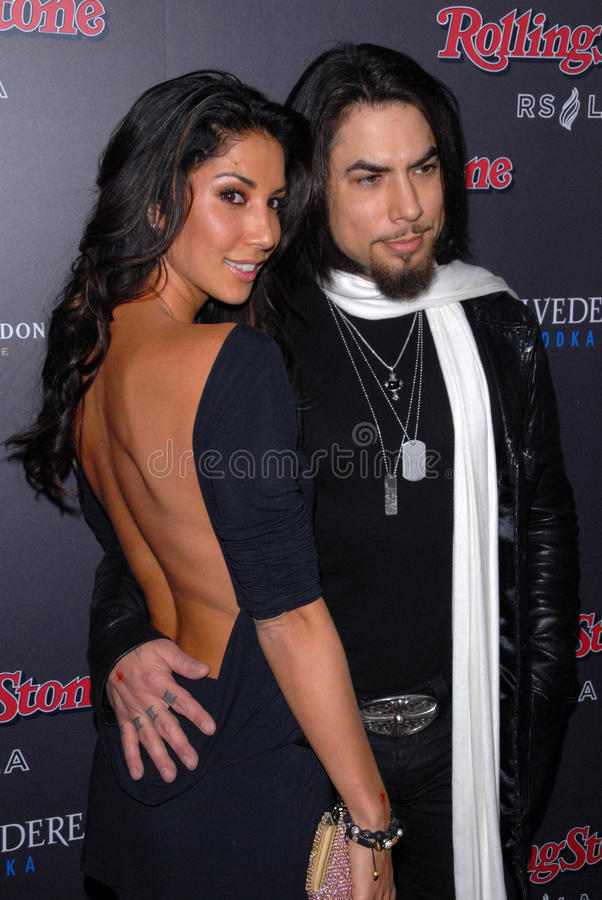 Dave Navarro, Leilani Dowding, Rolling Stones royalty-vrije stock afbeelding