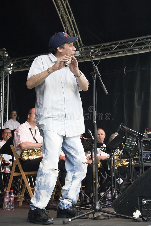 Dave Valentin and B3 Jazz Orchestra at Montreux stock photos