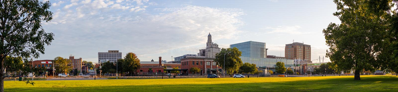 Davenport. In the state of Iowa, United States Of America, as seen from LeClaire Park royalty free stock photo