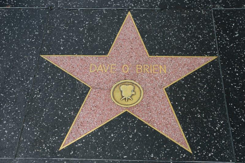 Daveo Brien ster op de Hollywood-Gang van Bekendheid stock foto's