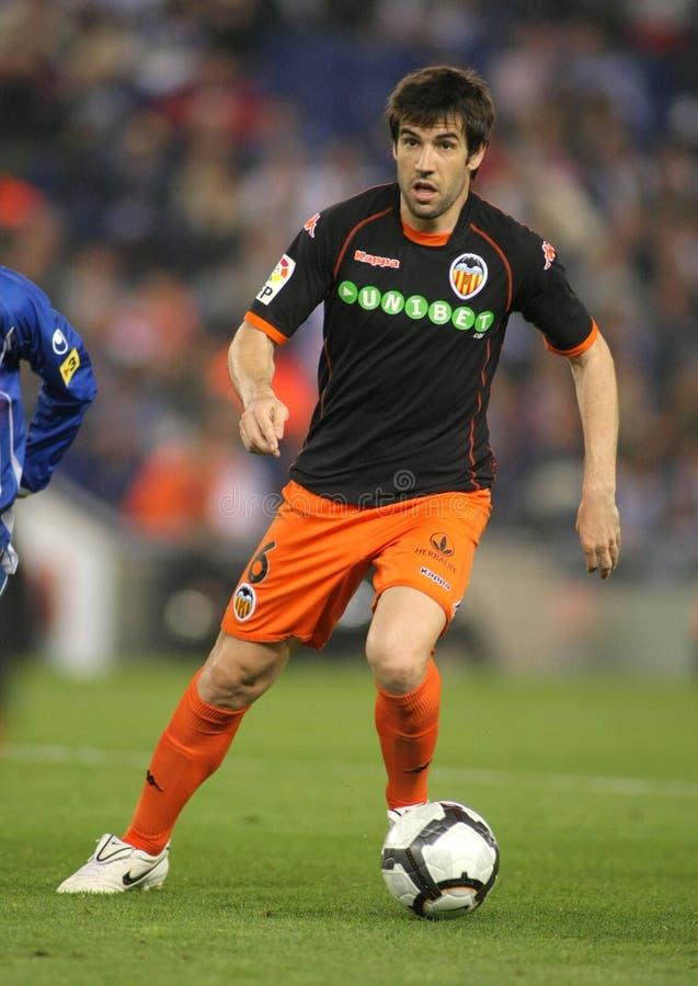 David Albelda von Valencia-CF stockbild
