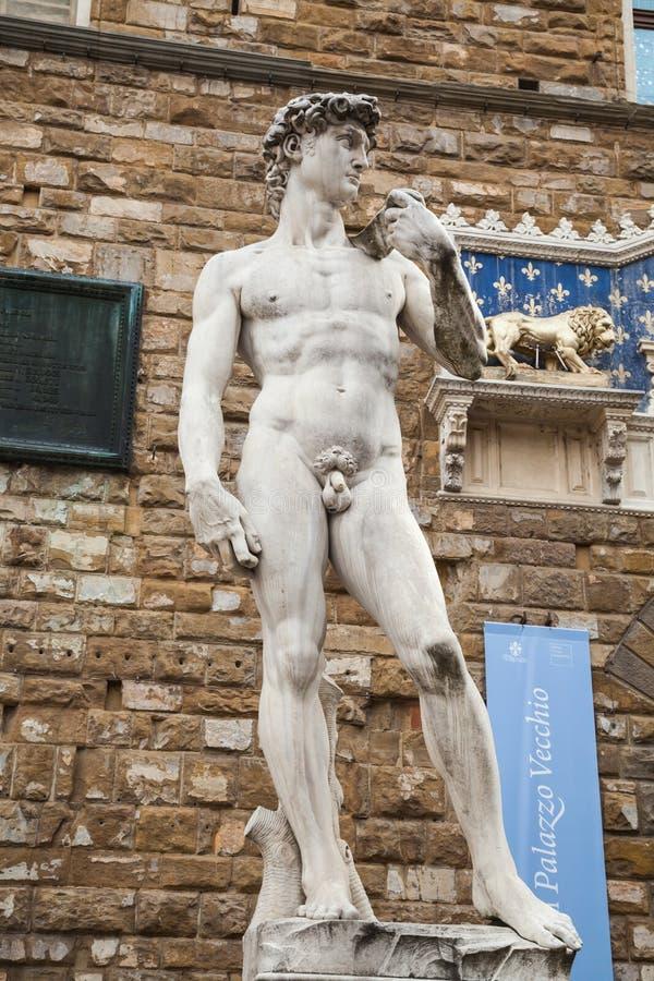 David au vecchio de palazzo à Florence images stock