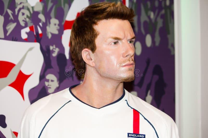 David Beckham à Madame Tussaud's photo libre de droits