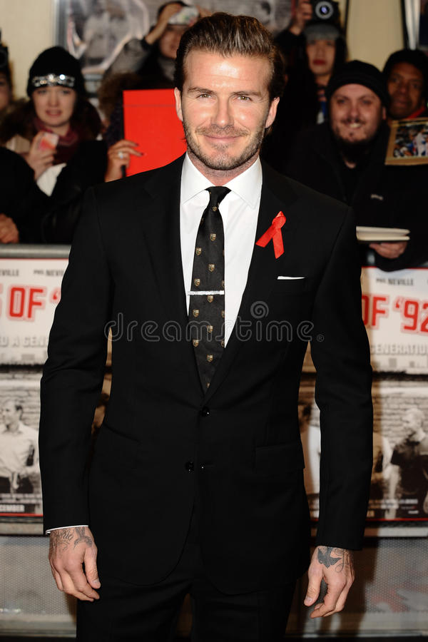 David Beckham stockfotos