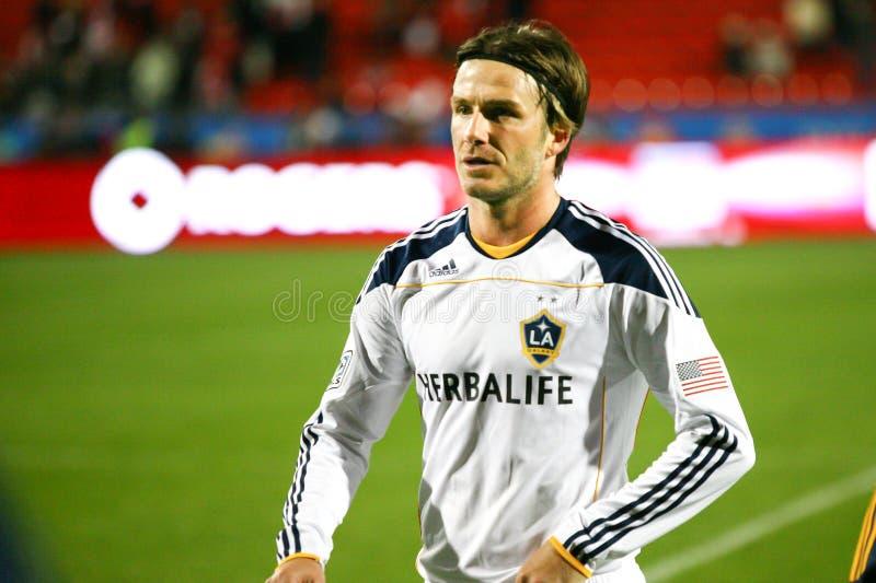 David Beckham TFC contra o futebol da galáxia MLS do LA fotografia de stock