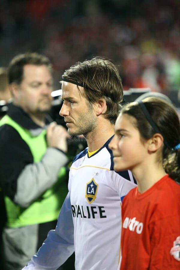David Beckham TFC contra o futebol da galáxia MLS do LA fotos de stock