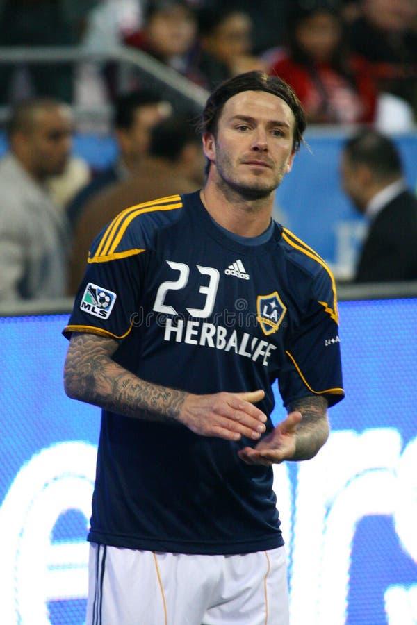David Beckham TFC contre le football de la galaxie MLS de LA images libres de droits