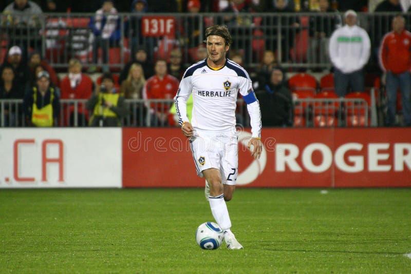 David Beckham TFC vs LA Galaxy MLS Soccer royalty free stock images