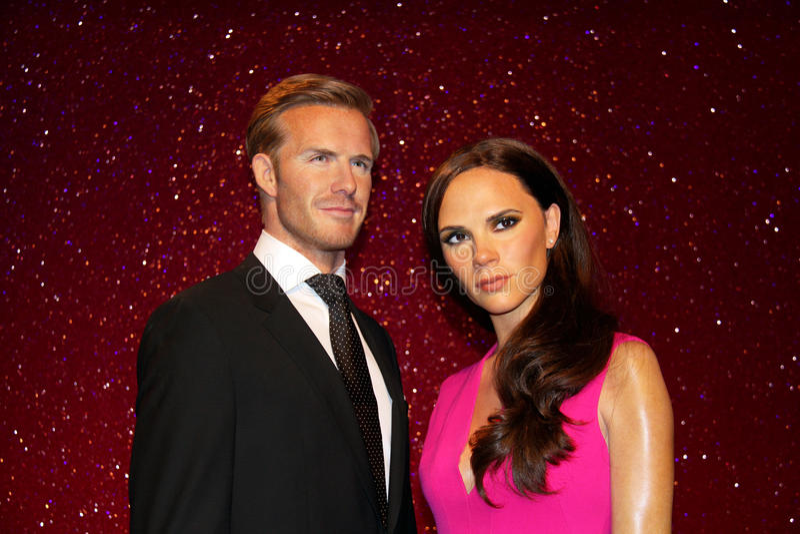 David Beckham and Victoria Beckham stock images