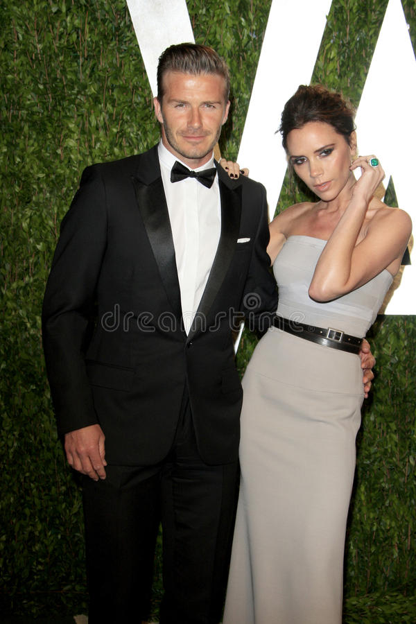 David Beckham, Victoria Beckham, Vanity Fair. LOS ANGELES - FEB 26: David Beckham; Victoria Beckham arrives at the 2012 Vanity Fair Oscar Party at the Sunset