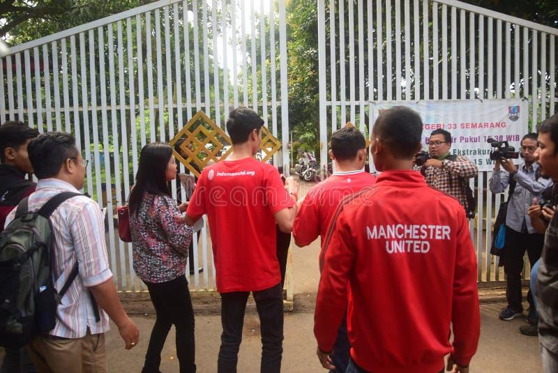David Beckham Visit la ville de Semarang image stock
