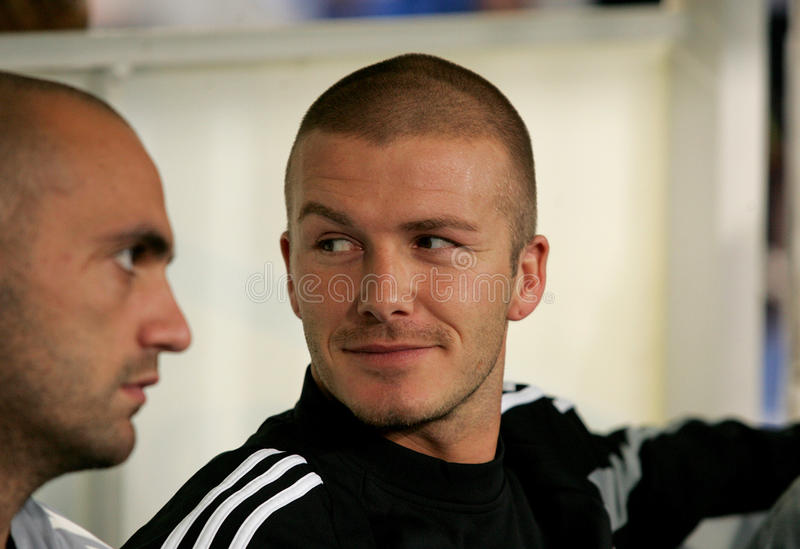 David Beckham von Real Madrid lizenzfreies stockfoto