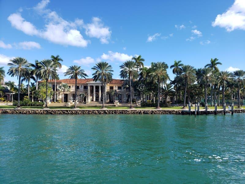 David Beckhams Miami Beach-Villa stockbild