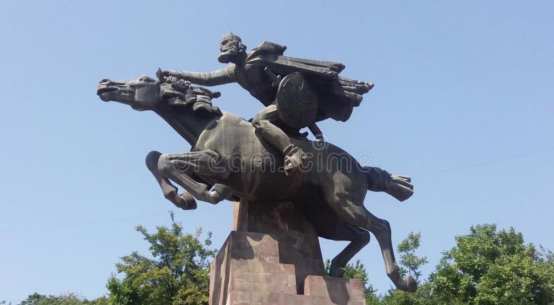 David Bek monument in Kapan royalty free stock images