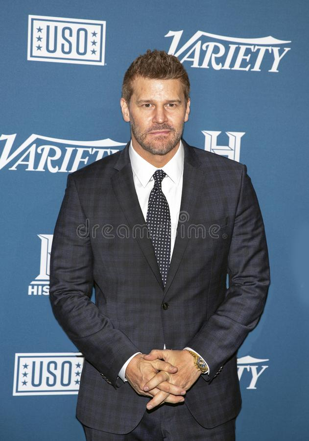 David Boreanaz at the Variety 3rd Annual Salute to Service royalty free stock photography