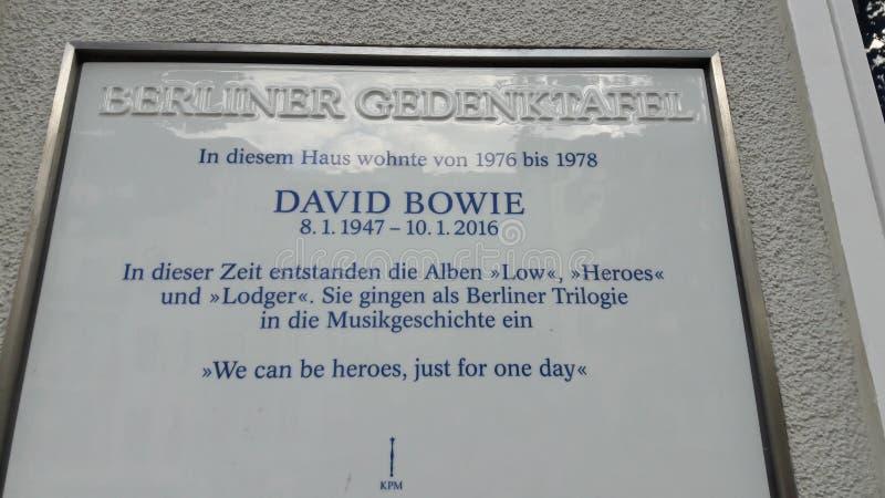 David Bowie dom Berlin fotografia stock