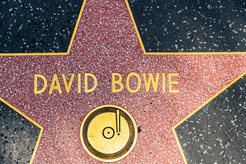 David Bowie gwiazda na Hollywood spacerze sława zdjęcia royalty free