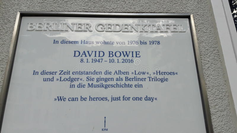 David Bowie House Berlin stock photography