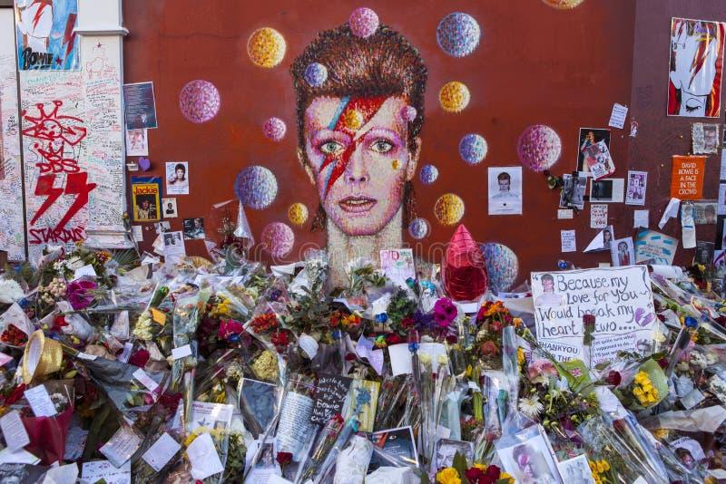David Bowie malowidło ścienne w Brixton zdjęcie stock