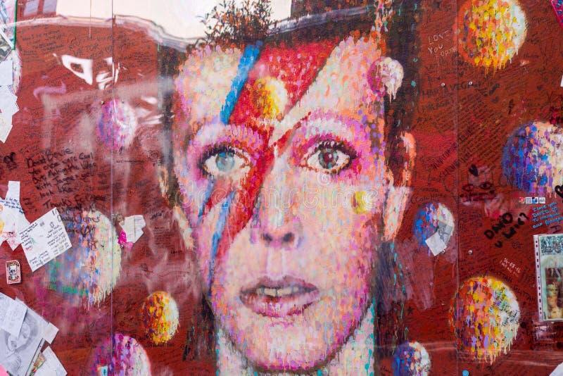 David Bowie Pamiątkowy Brixton, Londyn obrazy stock