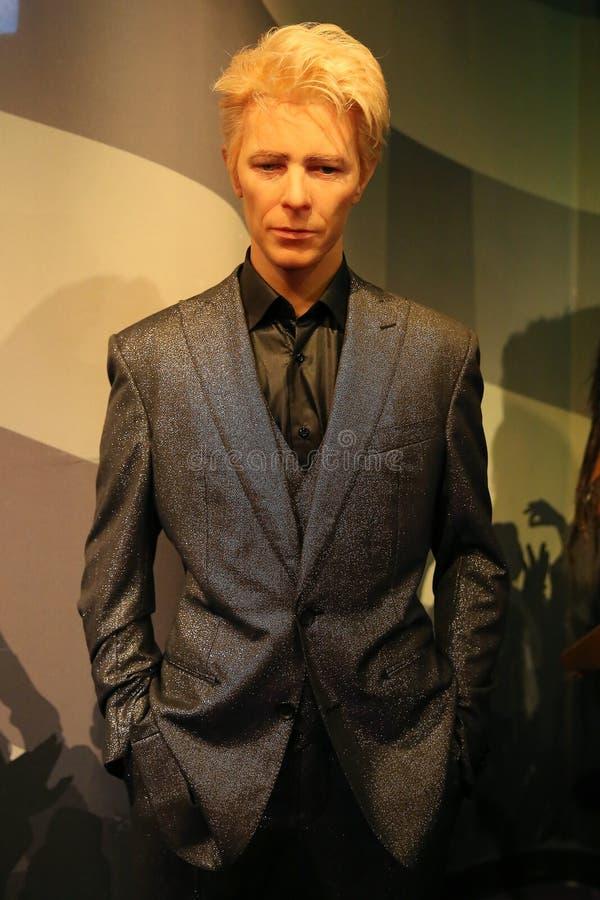 David Bowie-wasstandbeeld stock afbeelding
